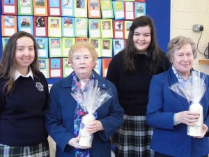 At the marking of Year of Consecrated Life in Presentation School were, from left: Elizabeth Meehan,, Sr. Maureen Guerin, Aoife Dillane and Sr. Mary McMahon.