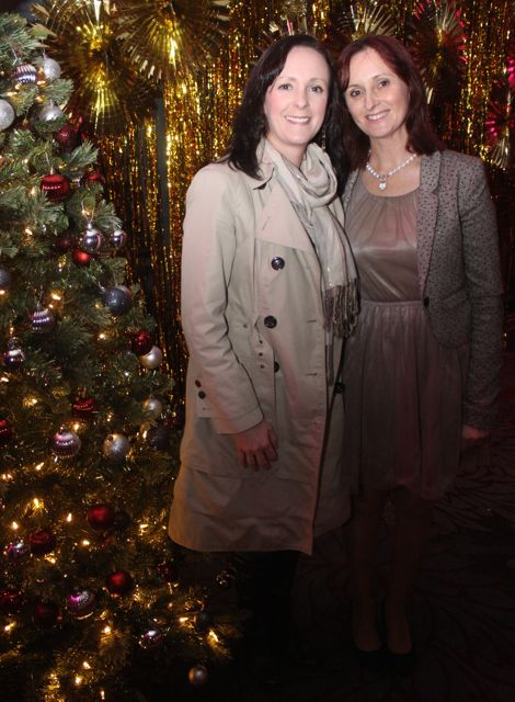 Debbie Dillon and Melissa Nolan at the Shaws Fashion Show in aid of the Recovery Haven on Thursday night. Photo by Dermot Crean