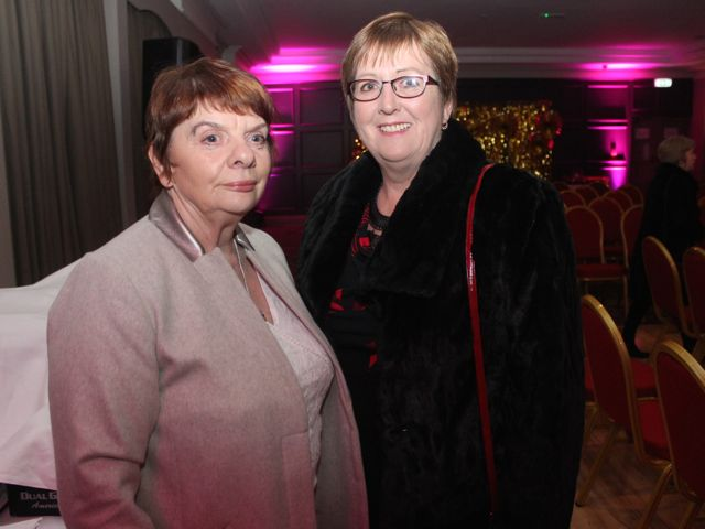 Julianne Lawlor and Kathleen Dineen at the Shaws Fashion Show in aid of the Recovery Haven on Thursday night. Photo by Dermot Crean