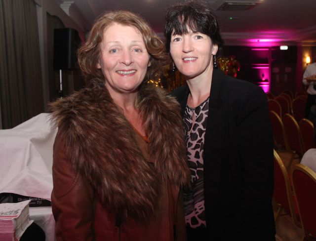 Eileen Holden and Bríd King at the Shaws Fashion Show in aid of the Recovery Haven on Thursday night. Photo by Dermot Crean