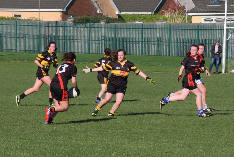"""Defender Jemma O'Connell - """"Thou shalt not pass!"""". Photo by Adrienne Mc Loughlin."""