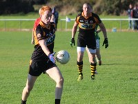 Shane O'Callaghan, in action for Austin Stacks against Milltown/Castlemaine, on Saturday last. Photo by Dermot Crean.