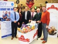 At the launch of the Garvey's and St Vincent De Paul Christmas Food Appeal were, from left:   Padraig O'Sullivan, Sandra Lynch, Kevin McCarthy, Tim Moynihan, Christy Lynch and Junior Locke. Photo by Gavin O'Connor.