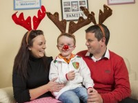 Tesco launched their Magical Reindeer Food Fundraiser in aid of Temple Street Children's Hospital. Pictured is Shayne Moran from Leitrim, Shayne is Temple Street Children's Hospital Reindeer Food Fundraiser Ambassador. Shayne is pictured his mum Anita Moran and dad Nigel Moran.