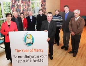 Launching The St John's Parish 'Year of Mercy' were, from left: Norma Foley, Fr Seamus Lenane, Anne O'Shea Daly, Bill Looney, Fr Bernard Healy, Fr Francis Nolan, Fr Peter Deliamat, Conor Fitzgearld and Denis Kelliher. Photo by Gavin O'Connor.