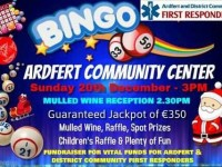 Bingo Afternoon To Raise Vital Funds For Ardfert And District First Responders