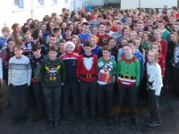 Gaelcholáiste Christmas Jumper Day Raises Cash For Bóthar