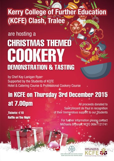 Christmas Cooking Demo At Kerry College Of Further Education