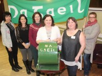 At the Na Geail Bingo were, from left. Eilleen Barry, Onnagh O'Neil, Mary McElligott, Niamh Burke, Jacqui Carlos and Treasa Kelliher. Photo by Gavin O'Connor.