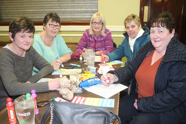 At the Na Geail Bingo were, from left. Patricia Casey, Patricia Clearly, Pauline Fitzmaurice, Kathleen Dillane and Pat Boyle. Photo by Gavin O'Connor.