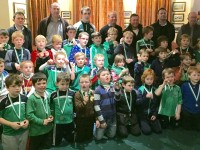 Na Gaeil Youngsters Receive Medals From All-Ireland Minor Star