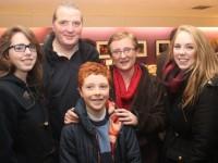 Veronica, Eamonn, Sean, Anne and Michaela Heaslip at the Ceilúradh na Nollag concert on Thursday night at Siamsa Tire. Photo by Dermot Crean