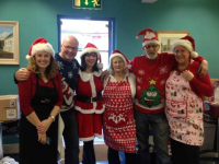 Tralee Soup Kitchen volunteers at Christmas dinner were, from left: Dawn Roberts, John Leahy, Collette Price, Kerry O'Connell, Joe Sweeney and Mary Dolan.