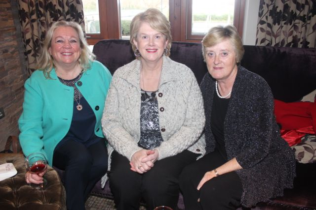 Noreen Murphy, Margaret Enright and Sheila Hannafin at the 'Recover Your Sparkle' event in the Fels Point Hotel on Sunday afternoon. Photo by Dermot Crean