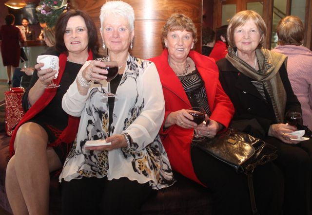 Geraldine Walsh, Dawn O'Brien, Kitty Daly and Kay Roche at the 'Recover Your Sparkle' event in the Fels Point Hotel on Sunday afternoon. Photo by Dermot Crean