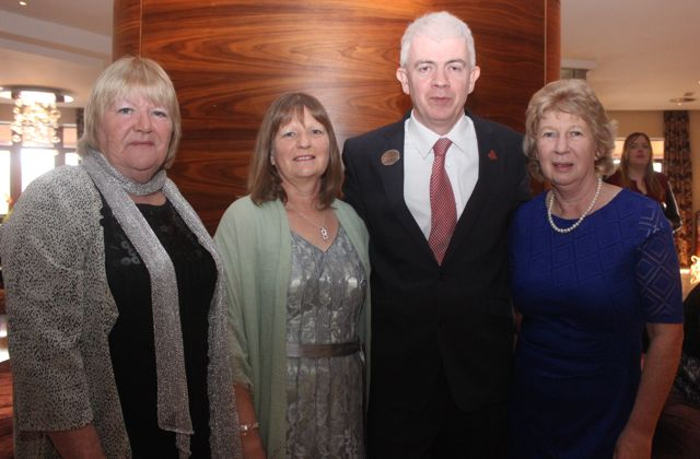 Sheila Fitzgerald, Anne Moore, General Manager of the Fels Point Hotel Mark Sullivan and Mary Kelly at the 'Recover Your Sparkle' event in the Fels Point Hotel on Sunday afternoon. Photo by Dermot Crean