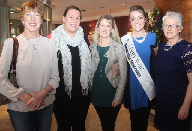 Betty McSweeney, Sinead O'Connell, Siobhan McSweeney, Kerry Rose Julett Culloty and Eileen Comerford of Recovery Haven at the 'Recover Your Sparkle' event in the Fels Point Hotel on Sunday afternoon. Photo by Dermot Crean