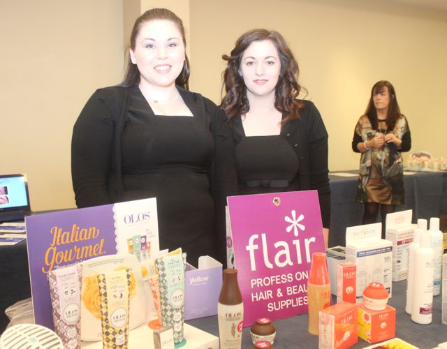 Joanne O'Sullivan and Maggie Dowling of Flair in Manor East at the 'Recover Your Sparkle' event in the Fels Point Hotel on Sunday afternoon. Photo by Dermot Crean