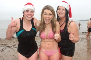 Frozen but happy swimmers after the Christmas Day swim in Fenit. Photo by Dermot Crean