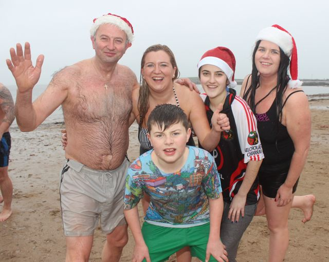 Happy dippers after the Christmas Day swim in Fenit. Photo by Dermot Crean
