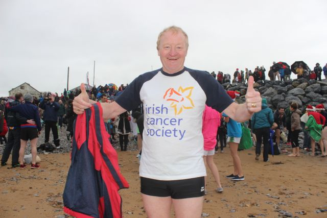 Micheal 'Fox' O'Connor at the Christmas Day swim in Fenit. Photo by Dermot Crean
