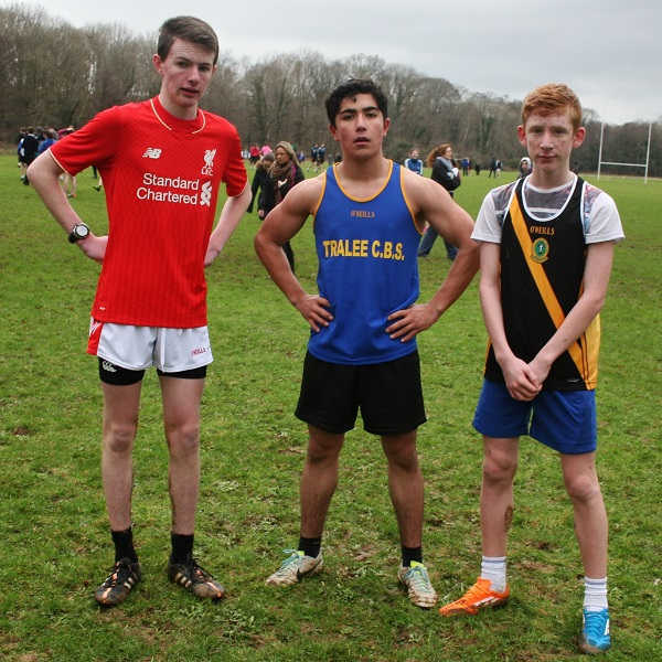 Athletes who took part in the Kerry Schools Cross Country Championships.