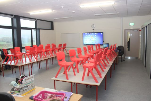 A classroom in the new St Brendan's NS school in Blennervillle. Photo by Dermot Crean