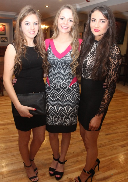 Norette Casey, Eilish Harrington and Clodagh Walsh at the Kerry Camogie Social at the McHales Stretford End, Causeway, on Friday night. Photo by Dermot Crean