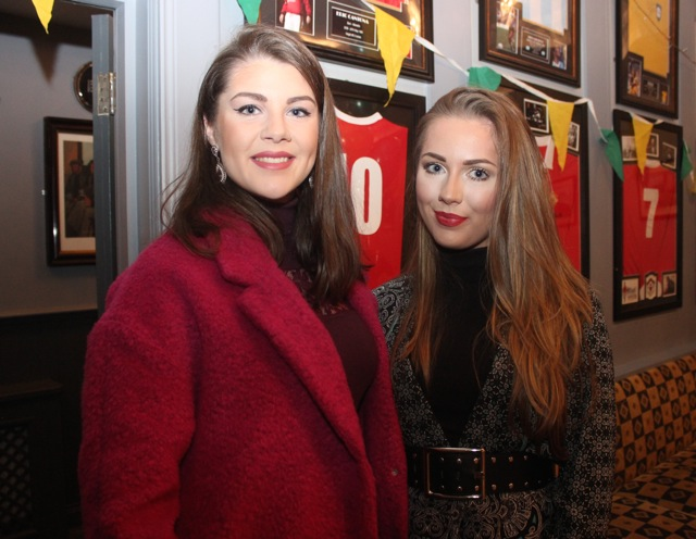 Sylvia Enright and Cora Enright at the Kerry Camogie Social at the McHales Stretford End, Causeway, on Friday night. Photo by Dermot Crean