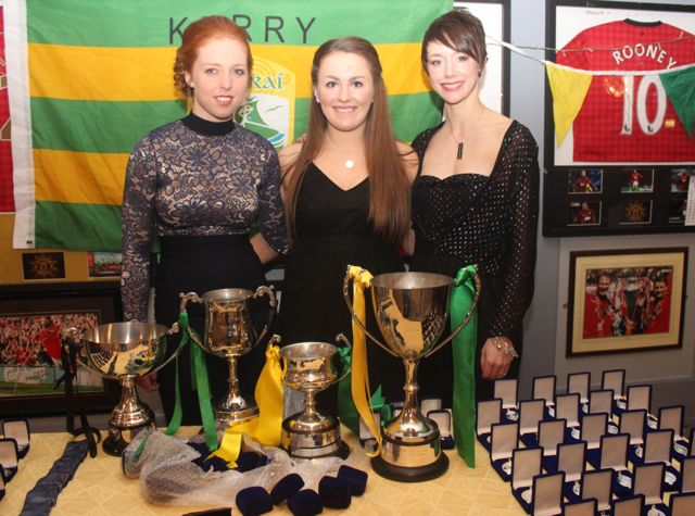 Patrice Diggin, Sarah Murphy and Olivia Dineen at the Kerry Camogie Social at the McHales Stretford End, Causeway, on Friday night. Photo by Dermot Crean