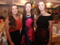 Alanna Maunsell, Niamh and Annemarie Leen at the Kerry Camogie Social at the McHales Stretford End, Causeway, on Friday night. Photo by Dermot Crean