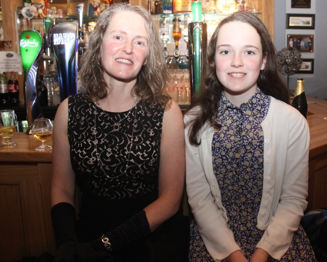 Carmel O'Shea Moloney and Saoirse Moloney at the Kerry Camogie Social at the McHales Stretford End, Causeway, on Friday night. Photo by Dermot Crean