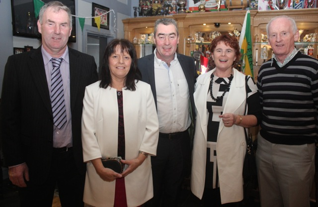 John Horgan, Anne Horgan, Aidan Behan, Geraldine Behan and Mke Dineen at the Kerry Camogie Social at the McHales Stretford End, Causeway, on Friday night. Photo by Dermot Crean