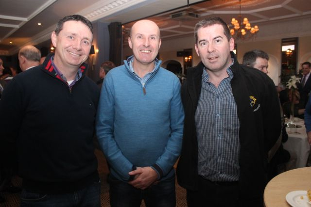 Brian Hayles, Paul Murphy and Eddie Walsh at the special fundraising coffee morning, in aid of Kerry Hospice, to mark the retirement of Chief Superintendent Pat Sullivan, on Friday afternoon at the Ballygarry House Hotel. Photo by Dermot Crean