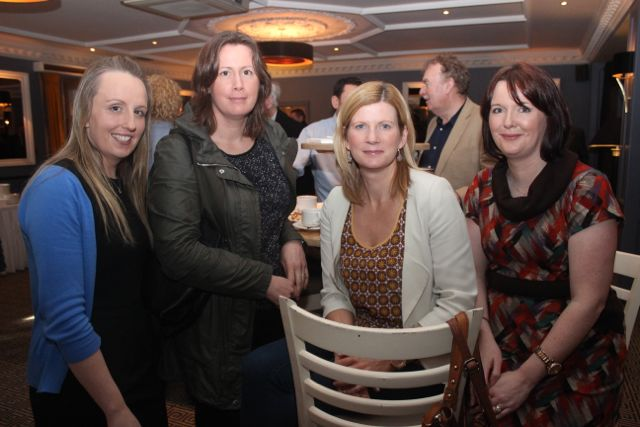 Catriona O'Mahony, Cecelia Scanlon, Inspector Aileen Magner and Garda Stephanie Hegarty at the special fundraising coffee morning, in aid of Kerry Hospice, to mark the retirement of Chief Superintendent Pat Sullivan, on Friday afternoon at the Ballygarry House Hotel. Photo by Dermot Crean
