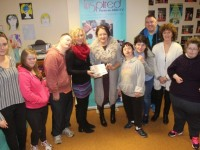 At the presentation of the Inspired Christmas raffle prize to Phil McCarthy, Abbeydorney, at Inspired's base at Friary Lane were, from left; Aisling Collins, Labhaoise O'Connor, David Malone, Marie O'Connor, Phil McCarthy, Breda O'Sullivan, Niamh McCarthy, Tim Landers, Yvonne O'Brien and Kerry O'Mahony. Photo by Dermot Crean