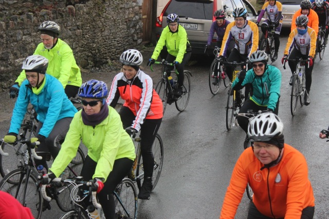 Cyclists set off on the Jimmy Duffy Memorial Cycle on Saturday morning. Photo by Dermot Crean