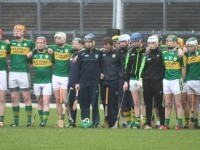 The Kerry panel lines up before the match. Photo by Gavin O'Connor.