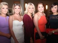 Sarah Collins, Orla Young, Mairead O'Mahony, Aine Brassil and Gráinne Leen at the Kilmoyley GAA social at the Ballyroe Heights Hotel on Saturday night. Photo by Dermot Crean