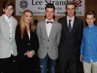 At the Lee Strand/Kerry Garda Youth Achievement Awards 2016 were, from left. Dylan, Denise, Darren, Michael and Devin Byrnes. Photo by Gavin O'Connor