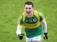 James Duggan celebrates at the final whistle. Photo by Gavin O'Connor.