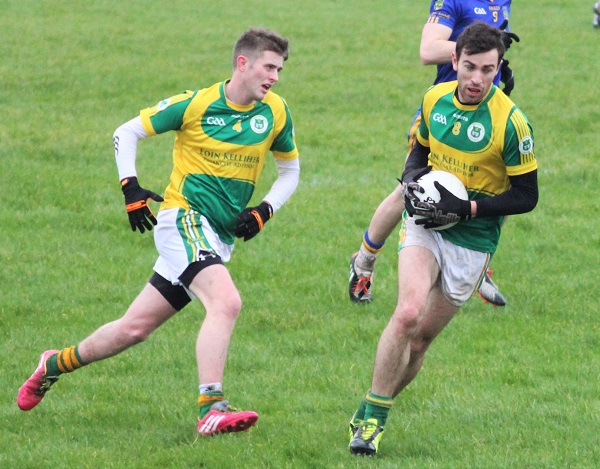 John Mitchels, Cian Sheridan and Ciaran Deane head off in attack. Photo by Gavin O'Connor.