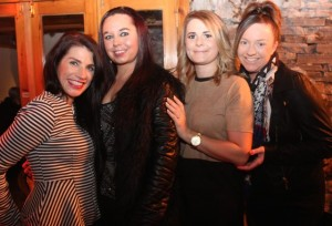 Jackie Moriarty, Stacey Lawlor, Mairead Lynch and Brenda O'Regan enjoying Women's Christmas in Bella Bia Restaurant on Wednesday night. Photo by Dermot Crean