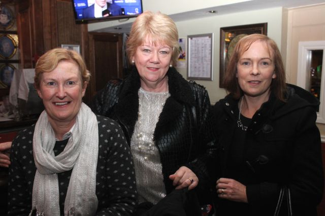 Doreen O'Brien, Marion O'Grady and Róisin Hourigan enjoying Women's Christmas in Kirby's Brogue Inn on Wednesday night. Photo by Dermot Crean