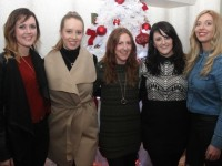 Avalon O'Dowd, Sarah O'Connor, Lorna O'Regan, Regina O'Regan and Laura Sheehy enjoying Women's Christmas in Kirby's Brogue Inn on Wednesday night. Photo by Dermot Crean