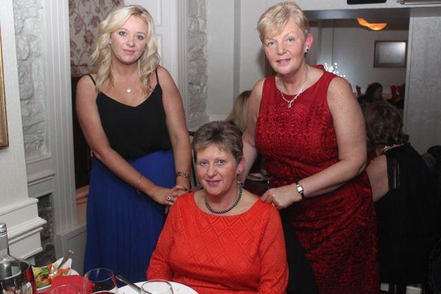 Ciara Stack, Sandra Moriarty and Breda Burrows enjoying Women's Christmas in Kirby's Brogue Inn on Wednesday night. Photo by Dermot Crean
