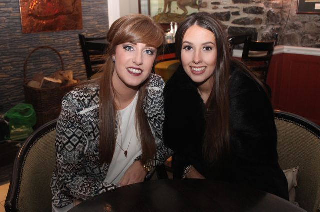 Laura Horgan and Laura Long enjoying Women's Christmas in Kirby's Brogue Inn on Wednesday night. Photo by Dermot Crean