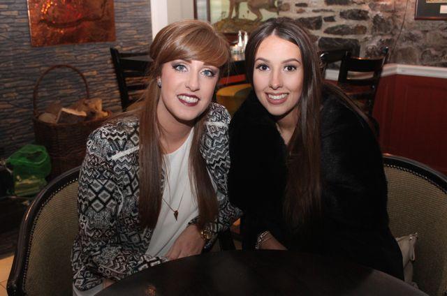 Laura Horgan and Laura Long enjoying Women's Christmas in Kirby's Brogue Inn on Wednesday night. Photo by Dermot Crean