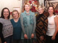 Caroline Stack, Eileen Healy, Kerrie Davoren, Conagh Forbes and Una O'Connor enjoying Women's Christmas in Cassidy's Restaurant on Wednesday night. Photo by Dermot Crean