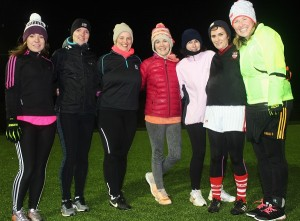 Some 'The Mothers and Others' training in Blennerville for Dublin Marathon were, from left: Kay Griffin, Grainne Quilter, ridget O'Riordan, Teresa O'Brian, Tricia Sheehan, Teresa Grainey and Andrea O'Donoghue. Photo Gavin O'Connor.